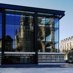 Médiathèque Jean Falala / BMVR Reims / 2003/ 6430m² / Architecte : Jean-Paul Viguier