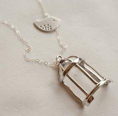 Silver Flown the Coop Pendant Necklace