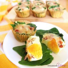 Spinach Pepper Jack Egg Muffins (Low Carb, Gluten-Free) | Wholesome Yum - Natural, gluten-free, low carb recipes. 10 ingredients or less.