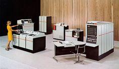 Univac 9400 mainframe computer system, circa 1969.