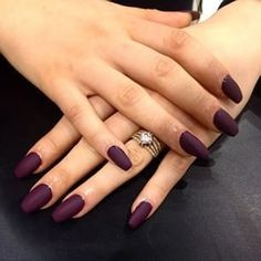 Image via We Heart It #matte #nailart #nails #purplenails #coffinnails