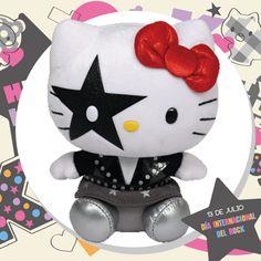 TY Beanie Baby - HELLO KITTY (KISS Starchild) (6 inch) - MWMT s 9260aa30d79b