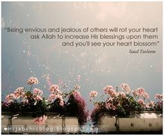 Islamic Quotes: Being envious & jealous