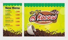 jasa desain grafis  banner untuk jualan pedagang kaki 5 banner es kacau kapucino cincaw