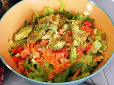 Simple Smashed AvocadoSalad: raw, vegan, gluten-free, and ready in 5 minutes or less.