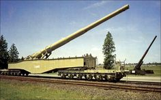 - This captured famous German railway gun poured fire into the American forces on the Anzio beachhead in Italy in World War II. Colorized History, Railway Gun, Ww2 Pictures, Rail Car, Armored Fighting Vehicle, Big Guns, Military Weapons, Navy Ships, Military Equipment