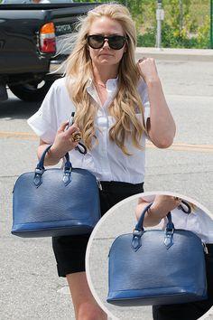 Jennifer Morrison Style Louis Vuitton  Alma PM Epi leather handbag