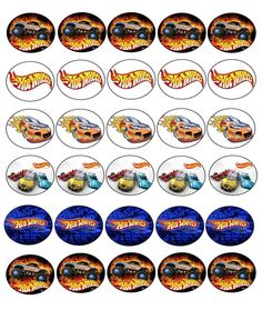 30 X HOT WHEELS IMAGES EDIBLE CUPCAKE TOPPERS PREMIUM RICE PAPER 245 | Home, Furniture & DIY, Cookware, Dining & Bar, Baking Accs. & Cake Decorating | eBay!