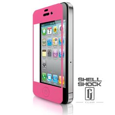 Hot Pink iPhone Screen Protector - Shell Shock: G-Class™ Screen Protector for Apple iPhone 4/4S Front & Back