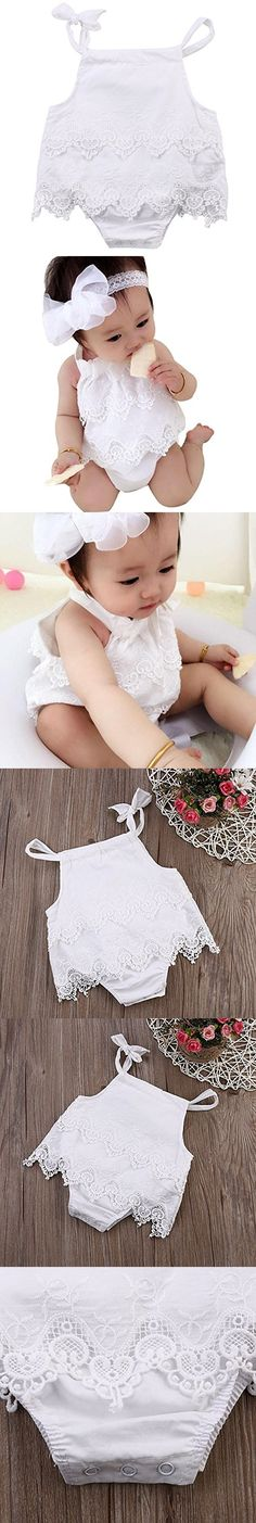 MiyaSudy Newborns Baby Girl Princess Bowknot Straps Summer Romper Party Clothes 0-18 Months