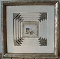 fantaisie de carrés blancs Art And Craft, Art Diy, Iris Folding, Time Design, Studio City, Frame It, Paper Cutting, Custom Framing, Picture Frames