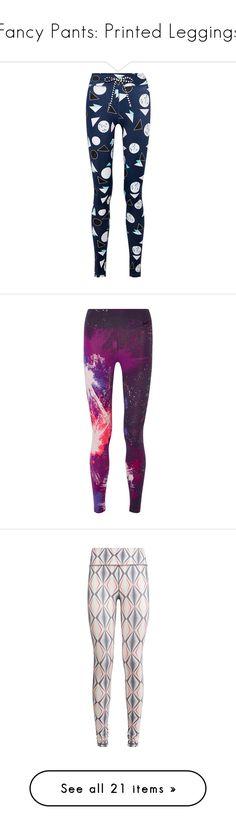 """""""Fancy Pants: Printed Leggings"""" by polyvore-editorial ❤ liked on Polyvore featuring printedleggings, activewear, activewear pants, navy, yoga activewear, leggings, nike, dark purple, nike sportswear and nike activewear pants"""