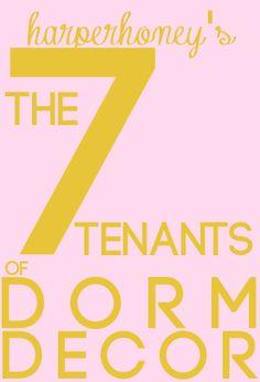 7 Tenants of Dorm Decor   Harper Honey