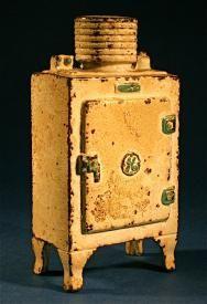 Antique Refrigerator Freezer Toy Cast Iron Money Coin Bank