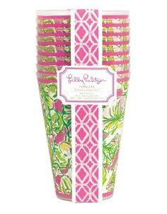 Lilly Pulitzer Tumblers (Set of 8) $16