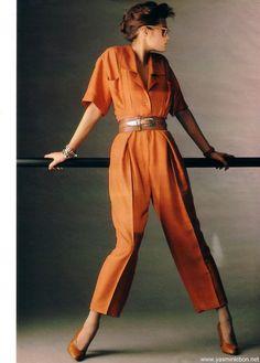 """""""La Combinaison Séduit"""", Elle France, March 1985      Photographer : Francis Giaccobetti      Model : Yasmin Le Bon"""