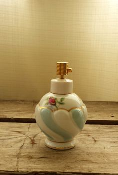 Ladies Perfume Bottle with Gilding and Roses. Rose Buds, Ladies Perfume, Perfume Bottles, Mid Century, Delicate, Hand Painted, Vintage Stuff, Lady, Roses