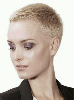 Super-Short-Pixie-Cut Super Short Haircuts for Modern and Unique Look Very Short Pixie Cuts, Super Short Pixie, Very Short Haircuts, Short Hair Cuts For Women, Short Hairstyles For Women, Short Hair Styles, Wavy Pixie, Haircut Short, Short Wavy