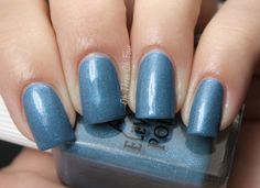 Mount Agepsta contains real diamond, real sapphire, real amethyst and real quartz powder in a medium-blue base. All nails are 2 coats with no top coat.