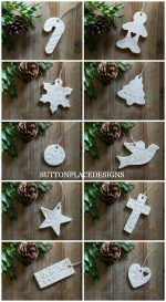Ways To Use That Room Below Your Stairs Christmas Clay Tags 2015 Collection Of Handmade Clay Tags For Your Holiday Decorating. Use For Christmas Tree Ornaments, Gift Tie-Ons, Garlands, Napkin Holders And More. Clay Christmas Decorations, Polymer Clay Christmas, Diy Christmas Ornaments, Christmas Projects, Holiday Crafts, Ornaments Ideas, Handmade Ornaments, Christmas Ideas, Homemade Decorations