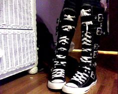 CONVERSE BOOTS  D by ~Eva-Cormac on deviantART - heck yes! Omg 5883c4729