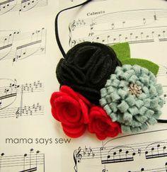 Christmas Headband Tutorial by Mama Says Sew