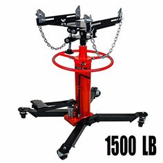 """Transmission Jack 1500 LB 2/3 Ton Capacity Hydraulic Transmission Jack 2 Stage 360°Swivel Wheel Transmission Jack Lift Heavy Duty Lift Hoist with Pedal (1500 LB)  Rated capacity"""" 1500 lbs  Lift range: 34"""" - 70""""  Includes 31"""" long safety chain  It can be used in high position installation and removal of automobile gearbox,car engines and other objects  we offer one year warranty free"""