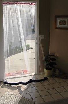 Who Needs A Storm Door? I Made This Great Screen Curtain To Keep Out The