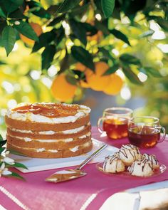 Use this recipe to make our Tangerine Tea Cake.  Candied Tangerine slices