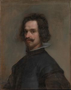 Velázquez (Diego Rodríguez de Silva y Velázquez) (Spanish, 1599–1660). Portrait of a Man, ca. 1630–35. The Metropolitan Museum of Art, New York. The Jules Bache Collection, 1949 (49.7.42) | This may be, perhaps, the self-portrait listed in an inventory of the artist's possessions drawn up in July 1661. #mustache #movember