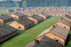 stone barracks in Birkenau