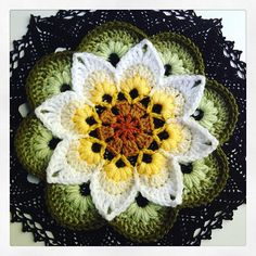 Ravelry: pollyplum's Lotus Moon Tiles - Midnight Glow