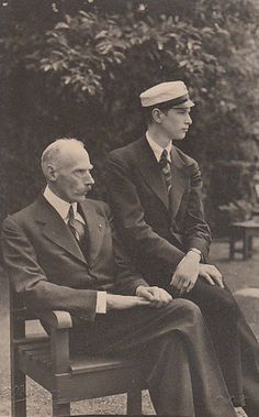 Prince Harald of Denmark with his son