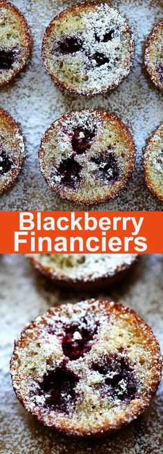 Blackberry Financiers – buttery, moist and rich French cake with blueberries. Homemade financiers are great with tea or coffee. So good | rasamalaysia.com