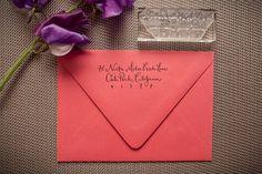 Custom Calligraphy Address Stamp ... Even better than address stickers
