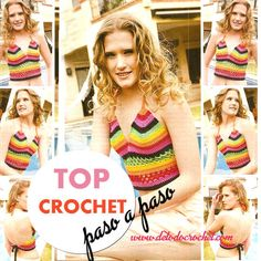 Top tejido a crochet con paso a paso en español