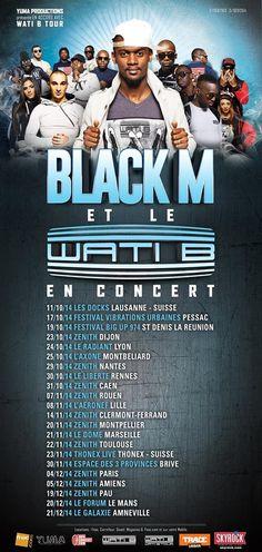 Black M et le Wati B en concert