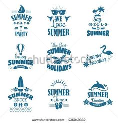 Stock Images similar to ID 141985849 - retro elements for summer...