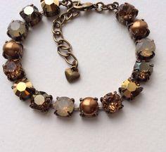 Swarovski Crystal Bracelet Sabika by CathieNilsonDesigns on Etsy
