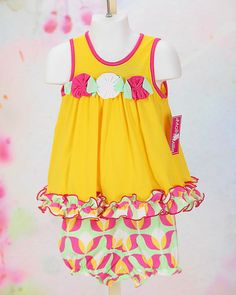 1a94bdbf966 Yellow and Pink Spring set by Molly   Millie
