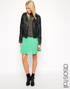 $9, Mint Skater Skirt: Asos Tall Pleated Skater Skirt. Sold by Asos. Click for more info: https://lookastic.com/women/shop_items/160192/redirect