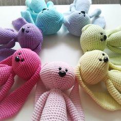 Crochet bunny long ears toy handmade amigurumi rabbit