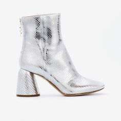 ELLERY|Class Ankle Boots Silver Elaphe | Minimal Nordic | minimalnordic.com Rat Snake, Python Snake, Calf Leather, Wearable Art, Calves, Minimal, Ankle Boots, Take That, Booty