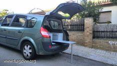 [Renault Grand Scenic] Camper edition Monospace, Off Road Camper, Van Camping, Station Wagon, Campervan, Van Life, Riding Helmets, Vans, Clever