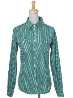 Anna-Kaci S/M Fit Green All Over Polka Dots Preppy « Impulse Clothes