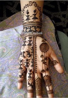 Tribal Henna Designs, Basic Mehndi Designs, Back Hand Mehndi Designs, Latest Bridal Mehndi Designs, Stylish Mehndi Designs, Mehndi Designs For Girls, Mehndi Design Photos, Latest Mehndi Designs, Mehndi Designs For Hands