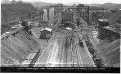 Panama Canal Construction Historic Photo - 1911 Pedro Miguel Locks Construction