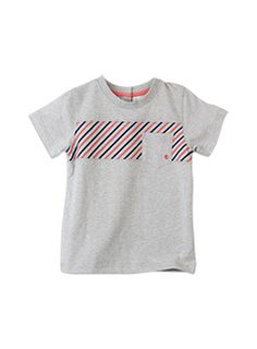 Toddler Boys Spliced SS Tee With Printed Stripes Overcast Marle richie polo