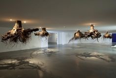 Spectacular Gravity-Defying Tree Root Chandeliers