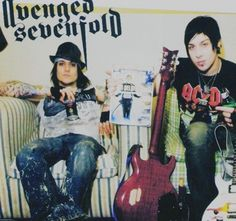 Synyster Gates, Zacky Vengeance. Amazing musicians and cool looking guys. Wish I could get the people and start a band like A7X!